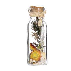 Potpourri Strohblume in Flasche, lila