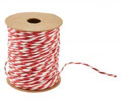 Kordel Papier, rot/weiß, 10 m