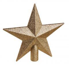 Baumspitze Stern Glitter, champagner, 20 cm