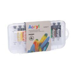 10er-Set Acrylfarben, 10 x 18 ml