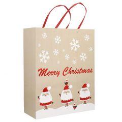 Geschenktüte Merry Christmas, Santa, 53 cm