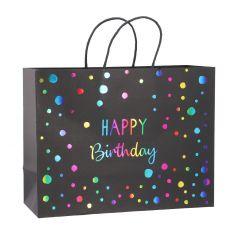 Tüte Happy Birthday, Rainbow, 34 cm
