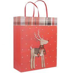 Geschenktüte Merry Christmas, Rentier, 53 cm