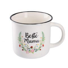 Becher Blumenranke, Beste Mama, 300 ml