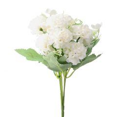 Strauß Pastellblumen, creme, 28 cm
