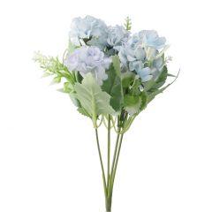 Strauß Pastellblumen, hellblau, 28 cm