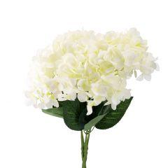 Strauß Hortensie, 5 Blüten, weiß, 50 cm