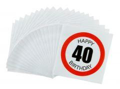 Servietten, 20 Stück, 40 Jahre