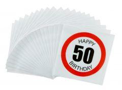 Servietten, 20 Stück, 50 Jahre