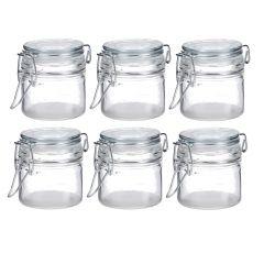 6er Set Vorratsglas mit Bügelverschluss, 80 ml