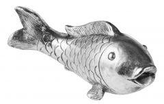 Fisch, silber, 44 x 15 x 19 cm