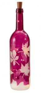 LED-Flasche Blatt, lila , 34,5 cm
