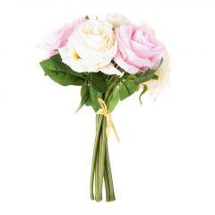 Strauß Rose, Edel, hellrosa, 27 cm