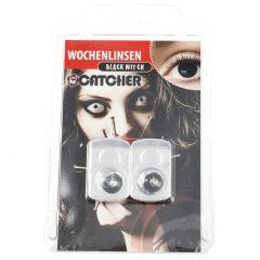 2er Set Kontaktlinse Grusel, Black Witch