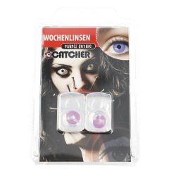 2er Set Kontaktlinse Grusel, Purple Gothic