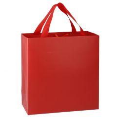 Geschenktüte Uni, matt, rot, 28 cm