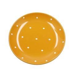 Teller Pia, Punkte, orange, 18.5 cm