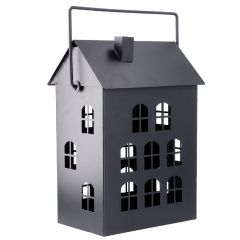 Laterne Haus, schwarz, 36 cm