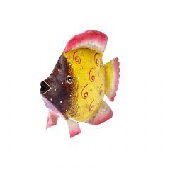 Fisch, gelb/pink, 12 cm