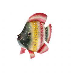 Fisch, Multistreifen/pink, 12 cm