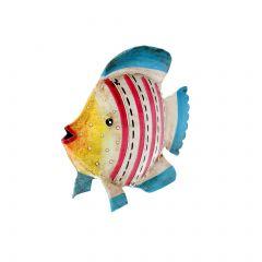 Fisch Streifen, rot/blau, 12 cm