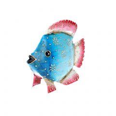 Fisch, blau/pink, 12 cm