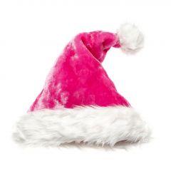 Weihnachtsmütze Fancy, pink/weiß