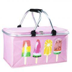Kühltasche Eis, rosa, 47 cm