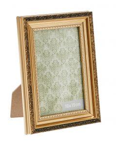 Bilderrahmen Barock, gold, 10 x 15 cm