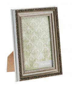 Bilderrahmen Barock, silber, 10 x 15 cm