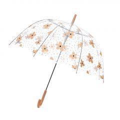 Regenschirm Transparent, Blumen, 82 cm
