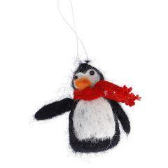 Anhänger Filz, Weihnachten, Pinguin, 10 cm