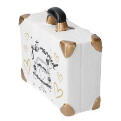 Spardose Koffer, Hochzeit, Auto, 11 cm