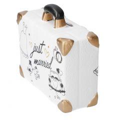 Spardose Koffer, Hochzeit, Kleid, 11 cm
