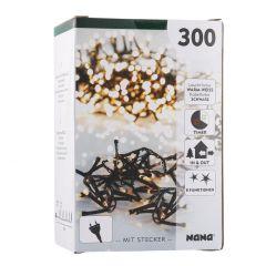 300er Lichterkette Cluster, warm weiß