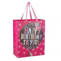 Geschenktüte Birthday, Ballon, 32 cm