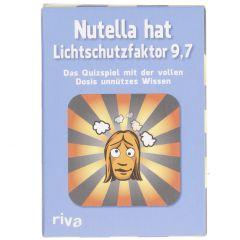 Kartenspiel Party, Nutella hat Lichtschutzfaktor 9.7