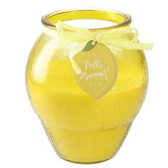Kerze im Glas, Zitrone, 13 x 15 cm