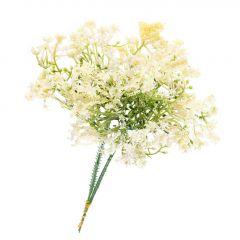 2er Deko-Stecker Miniblüten, weiß, 20 cm