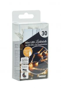 LED-Lichterkette Mini mit Timer, 30er