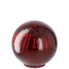 Deko-Kugel Craquele, rot/glänzend, 10 cm