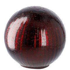 Deko-Kugel Craquele, rot/glänzend, 13 cm