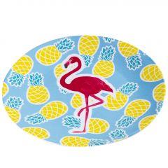 Teller Flamingo, blau, 23 cm