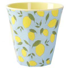 Becher Design, Zitrone, 9 cm