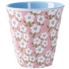 Becher Design, Blumen pink, 300 ml