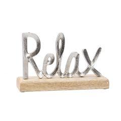 Deko-Buchstaben Relax, silbermatt, 26 cm