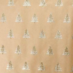Geschenkpapier Baum/Glitter, gold, 2 m