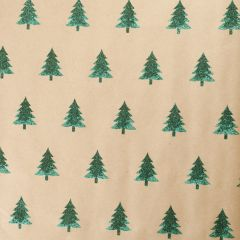 Geschenkpapier Baum/Glitter, grün, 2 m