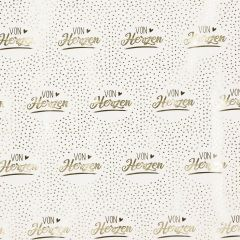 Geschenkpapier Anlass/Dots, Von Herzen/gold, 2 m