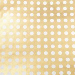 Geschenkpapier Gold/Punkte, 2 m